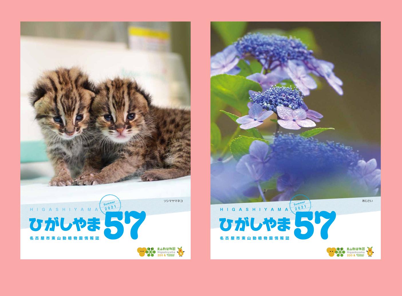 東山動植物園の情報誌ひがしやま57号を発行しました